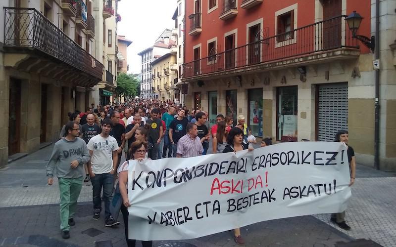 Goienetxea eta gainontzekoak askatzeko manifestazioa
