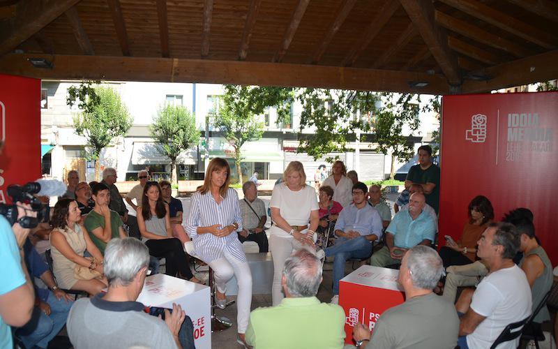 Idoia Mendia izan da PSE-EEren ekitaldi nagusian Errenteria-Oreretan.