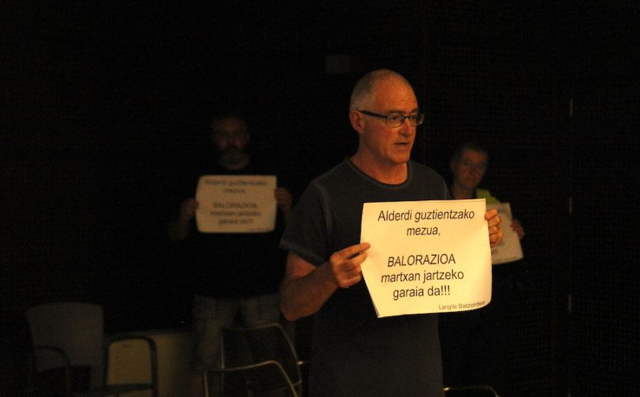 Langile publikoen protesta Pasaian