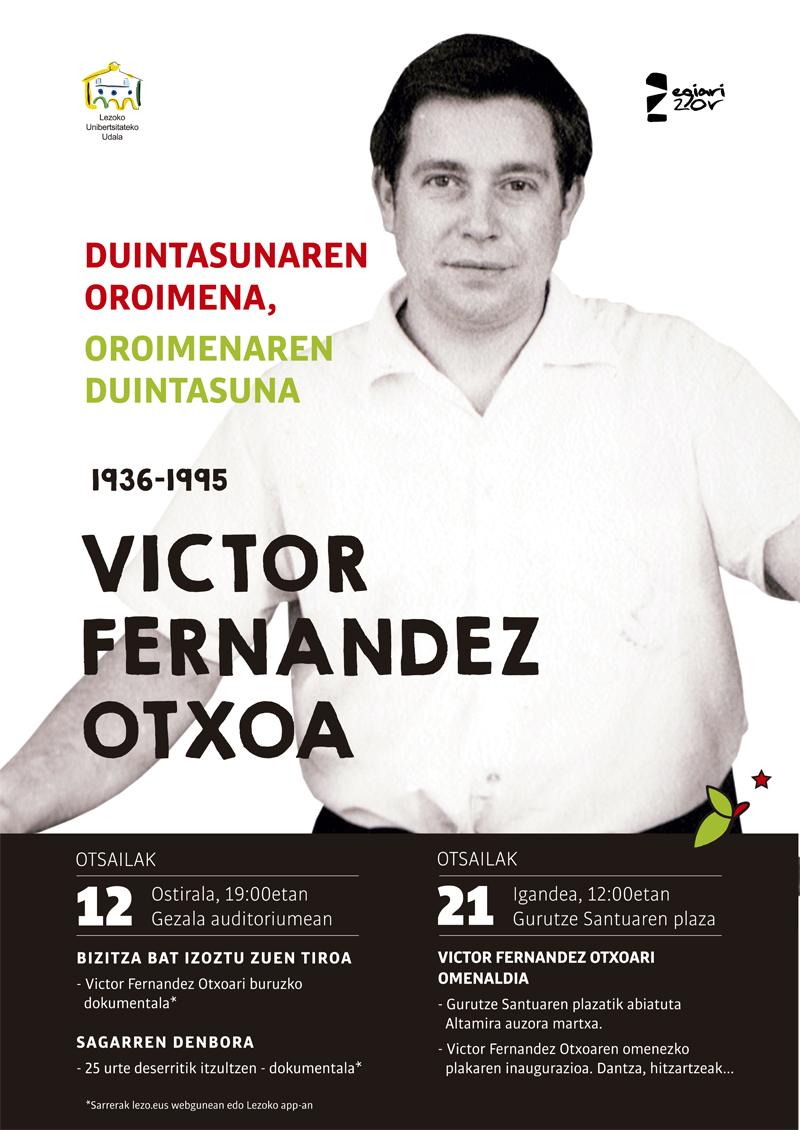 Victor Fernandez Otxoaren omenezko ekitaldien kartela.
