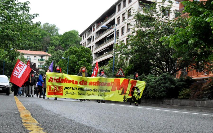 2021eko Maiatzaren Leheneko manifestazioa Oarso Bidasoko LAB sindikatuak deituta.